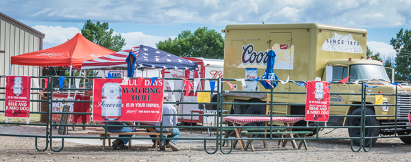Watering Hole Vendor Beer Mule Days